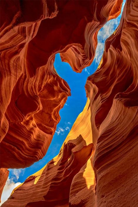 Light in Canyon, Arizona, USA