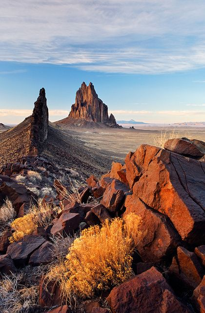 Shiprock Rock, New Mexico by Brad Mitchell